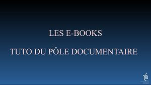 Tuto pour la consultation des e-books