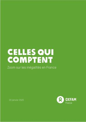 Rapport Inegalites Oxfam 2020 Zoom France