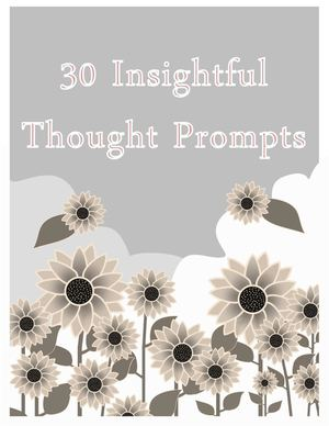 30 Inspirational Thought Prompts