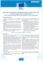 Erasmus Charter For Higher Education 2021 - 2027
