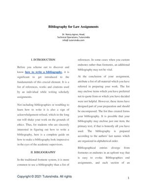 Help with my law bibliography hpw to write a book