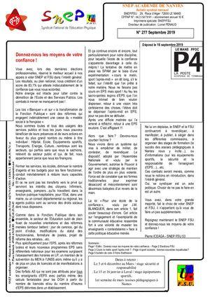 Bulletin Septembre 2019