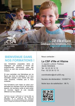 Catalogue 2021 De Formations Continues Csf Ud35