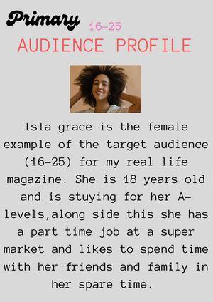 Profile heading example