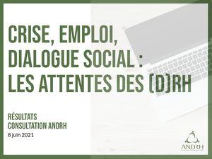 Crise, emploi, dialogue social : les attentes des DRH. Résultats consultation ANDRH