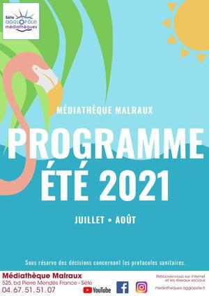 Programme été 2021 Médiathèque Malraux (Sète-Ile de Thau)