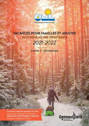 Catalogue OML Automne - Hiver - Printemps 2021-2022